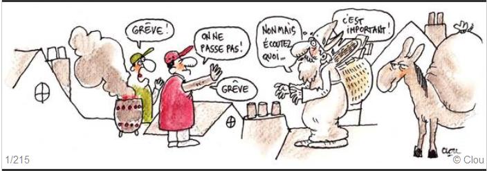 Saint-Nicolas et les grévistes