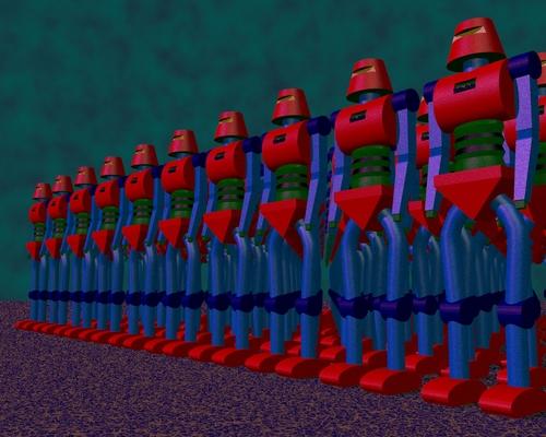 Une armée de robots