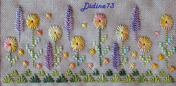 SAL trio : les Fleurs de mon Jardin - étape 4