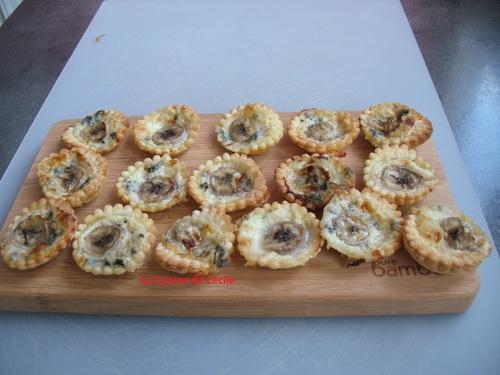 Mini tartelettes au roquefort et à la Banane - défi  # 13