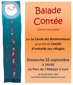 Ballade contée pour le Comité d'entraide de Lure le 22 septembre 2013