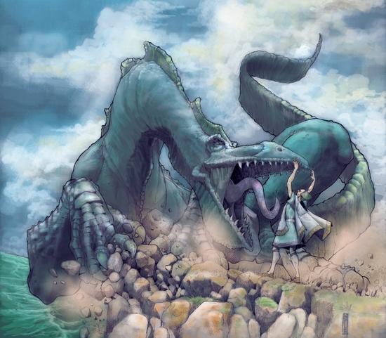 saint efflam et le dragon