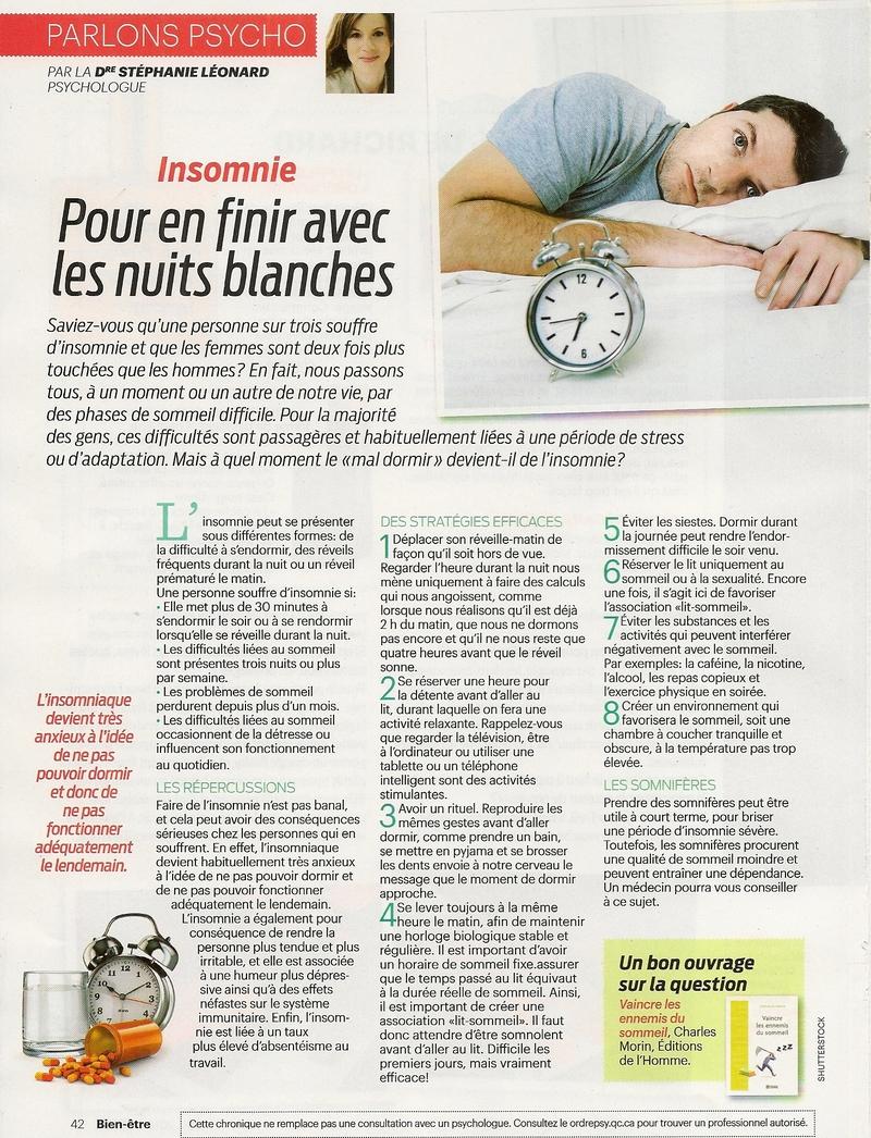 Santé:  Insomnie