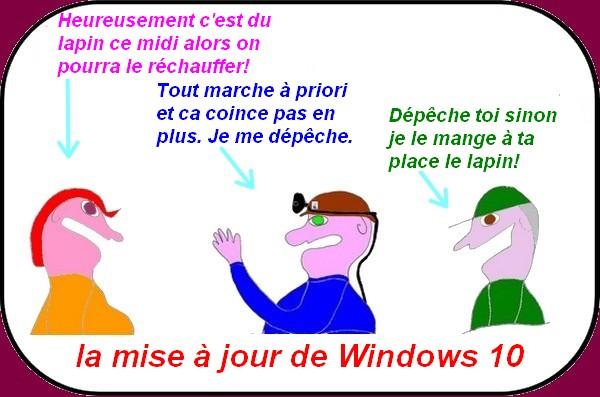 Le vieux coq s'empêtre dans Windows 10
