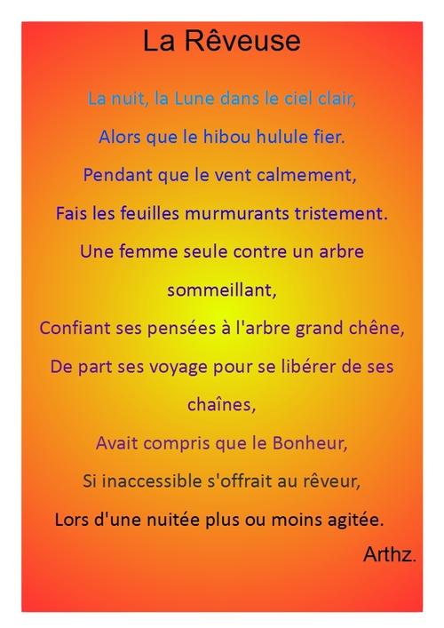 La Rêveuse - Poème