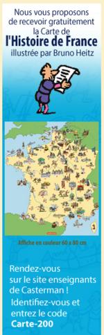 Carte de France Casterman