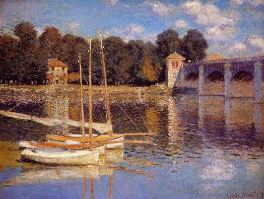 Monet_Pont Argenteuil_Guinguette
