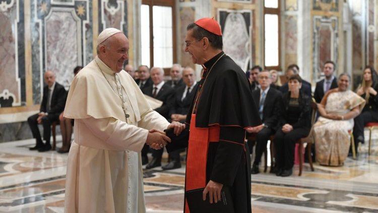 Le Pape François lors de la rencontre promue par l'Institut pour le dialogue interreligieux d'Argentine