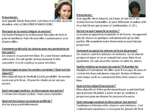 INTERVIEW DE MARIE ET ALEXIS