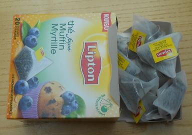Thé noir façon muffin myrtilles de Lipton