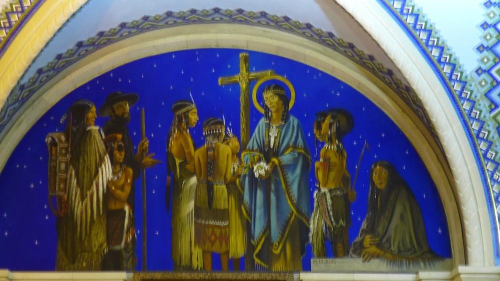 La chapelle de l'Immaculée Conception - Basilique Sainte-Anne-de-Beaupré Québec...