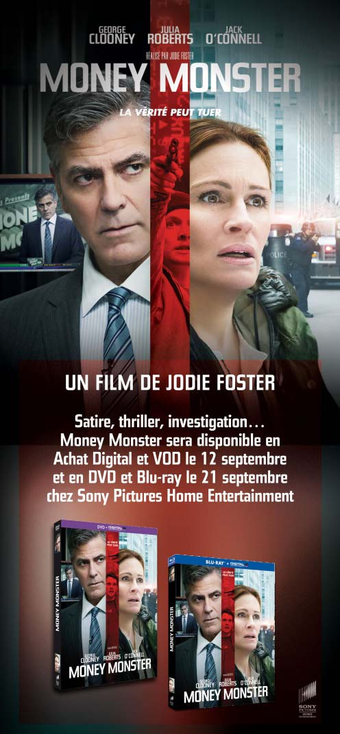 Money Monster (BANDE ANNONCE VOST) de Jodie Foster avec George Clooney, Julia Roberts MONEY en VOD et Achat Digital le 12 septembre 2016
