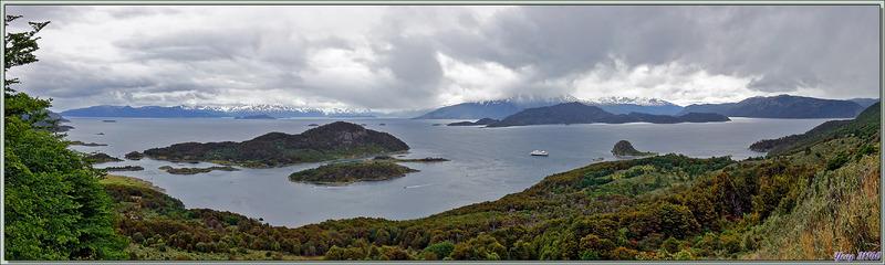 Panorama sur Bahia Wulaia - Isla Navarino - Patagonie - Chili