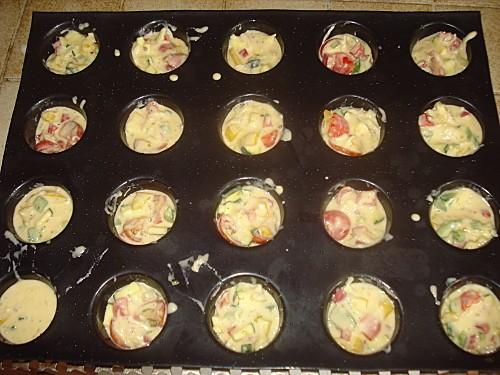 Mini Muffins aux Légumes d'été 6