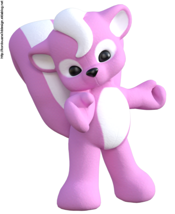 Mouffette rose (animal toon-image)