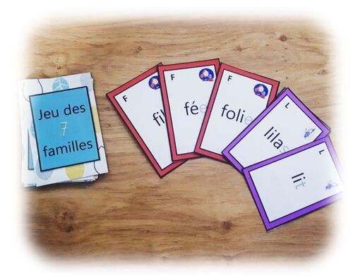 Jeu de 7 familles de lecture de mots (méthode Lecture Piano)
