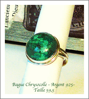 Bague Chrysocolle / Argent 925 Sterling Silver