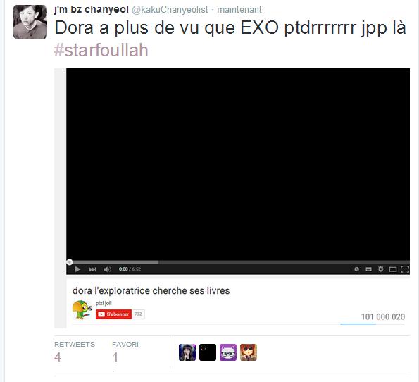 """J'm bz chanyeol"" c'est lpb"