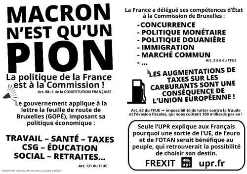 ⇒Frexit: Pourquoi faire des réclamations à Macron ne sert à rien.