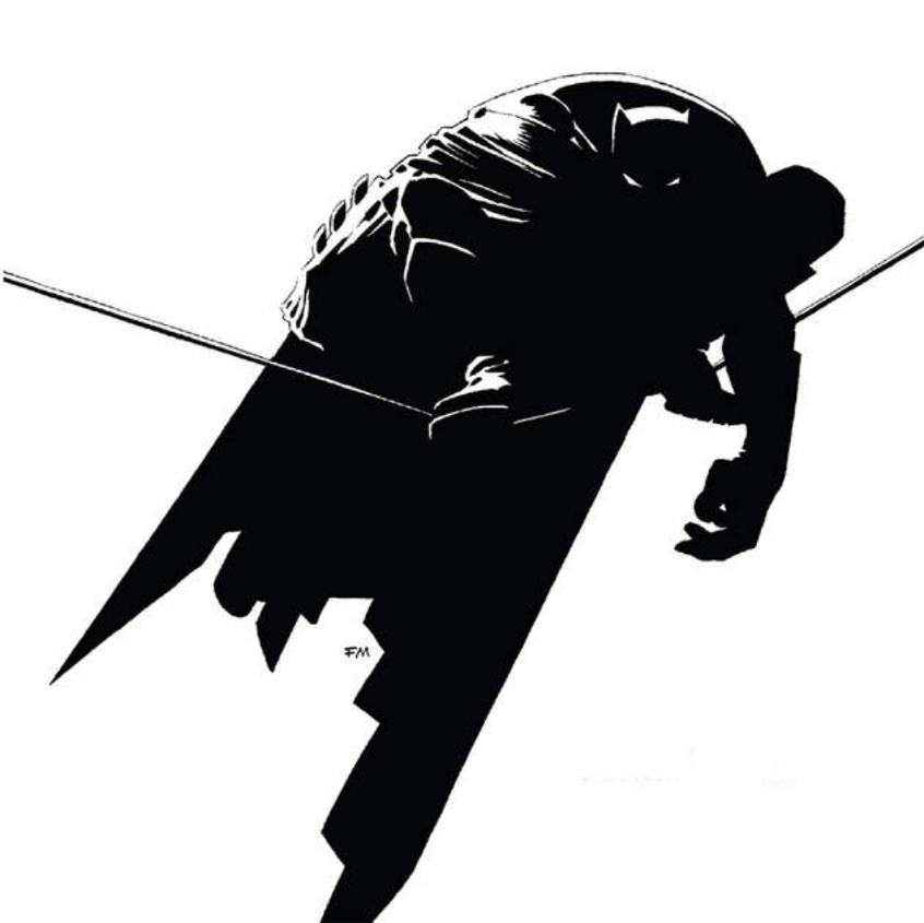 Frank Miller, dessin pour Batman : Dark Knight, 1986.