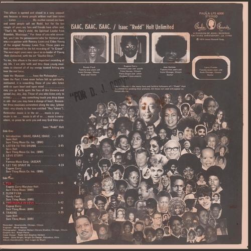 "Isaac ""Redd"" Holt Unlimited : Album "" Isaac , Isaac , Isaac. "" Paula Records LPS 4006 [ US ]"