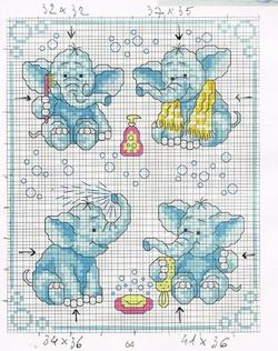 Le bain de l'éléphant 1.