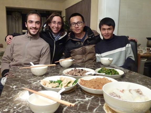 Chao et Hycheng nous ont préparé un repas chinois