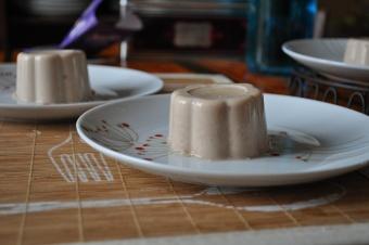 Panna cotta au chocolat-caramel