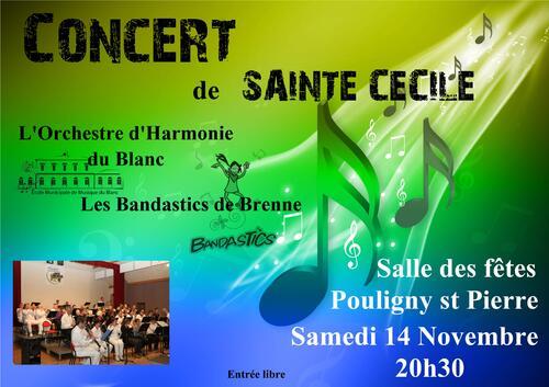 A venir : Concert de Ste Cécile avec les Bandastics de Brenne