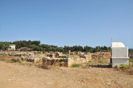 ruines d'une basilique chrétienne à Panormos