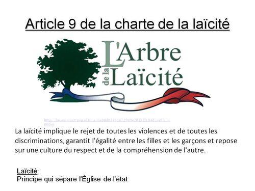 La Charte de la laîcité vue par les 4F