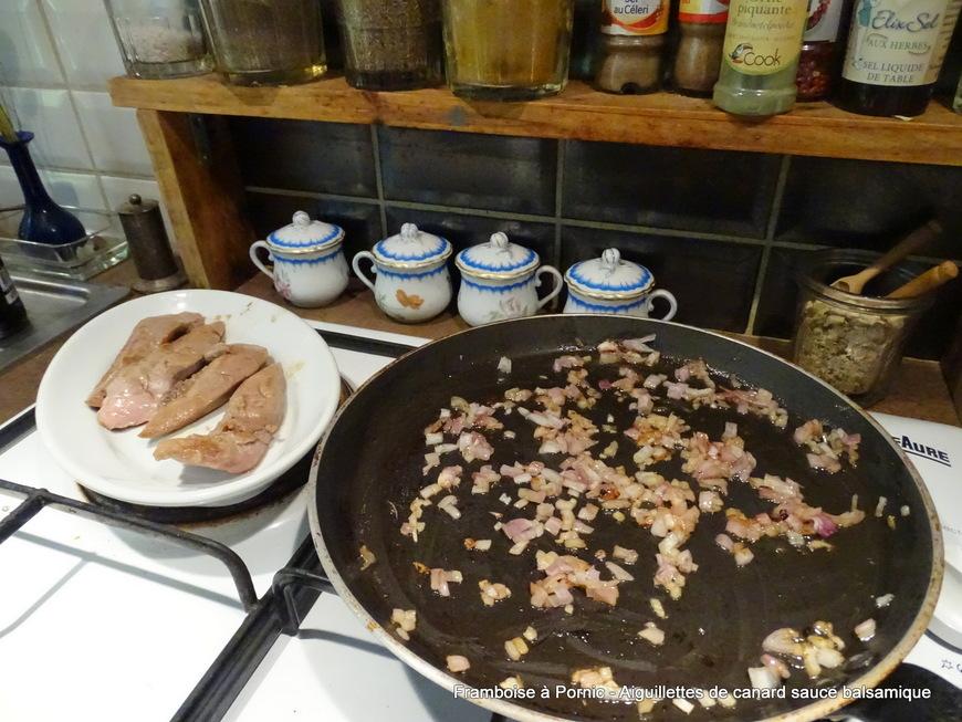 Aiguillettes de canard au balsamique