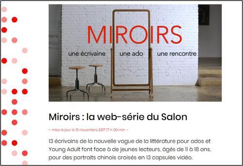 """""""Miroirs"""" : la web-série du Salon du livre jeunesse de Montreuil 2017"""