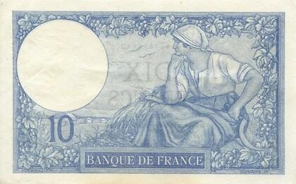 LE BILLET DE 10 FRANCS MINERVE