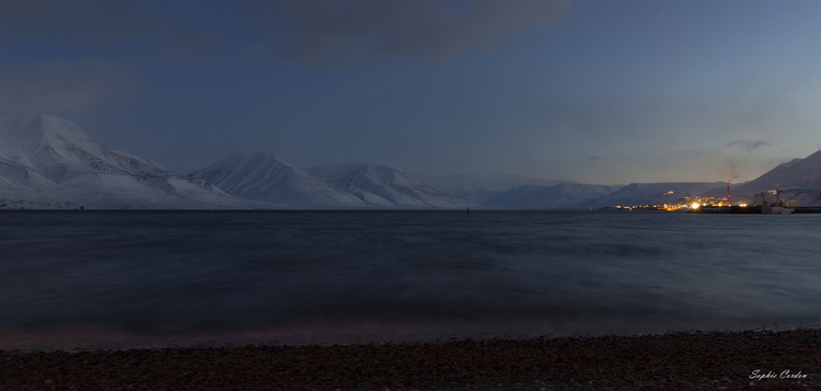Longyearbyen by (midday) night