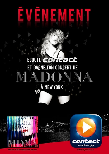 Madonna Live in NY with ContactFM
