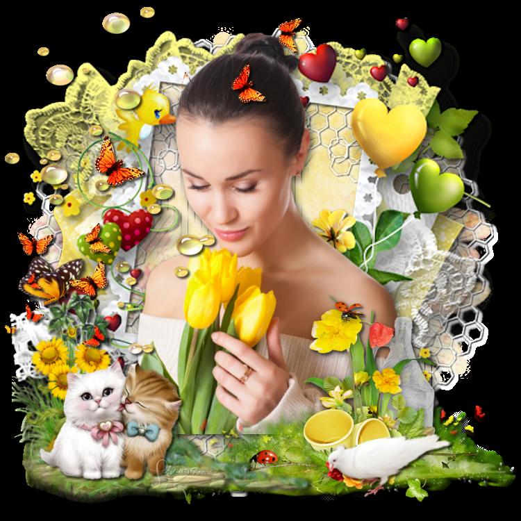 4 versions du scrap jardin de fleurs