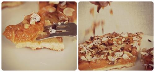 Tarte amandine aux abricots caramélisés