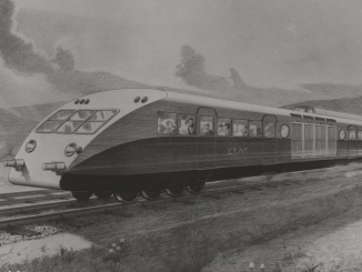 Illustration de l'autorail Bugatti