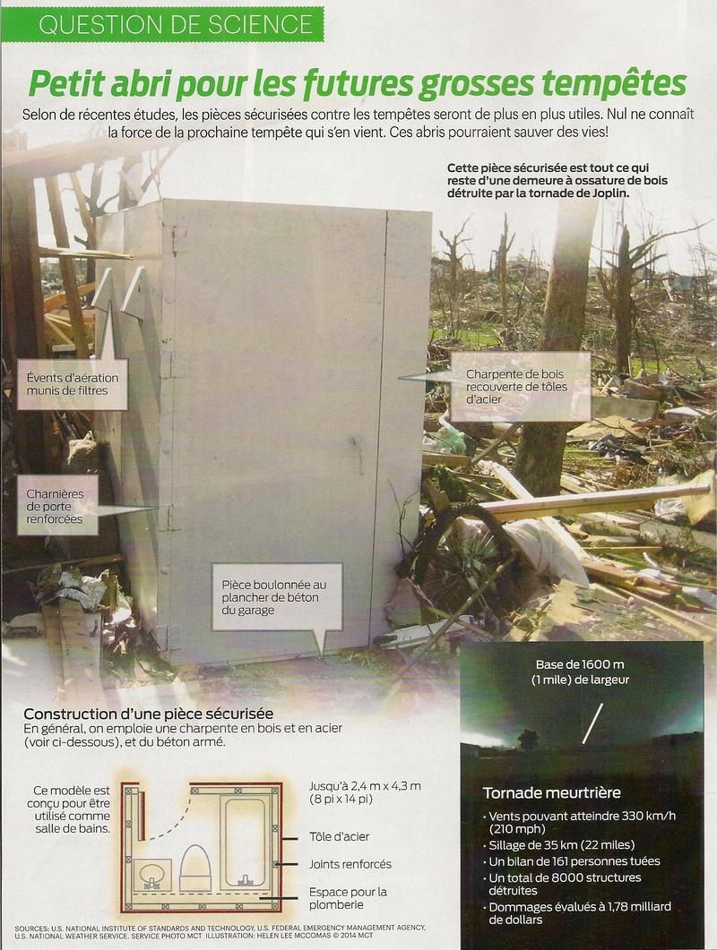 Question de Science:  Petit abri pour les futures grosses tempêtes