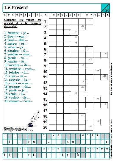 Des mots align s tous les temps cm1 l 39 cole de - Conjugaison cm2 a imprimer ...