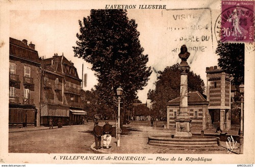 05 - La Place de la République et la sortie de la ville ... vers Rodez