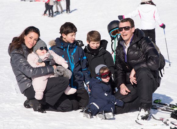 Marie et Jocahim en famille à Villars