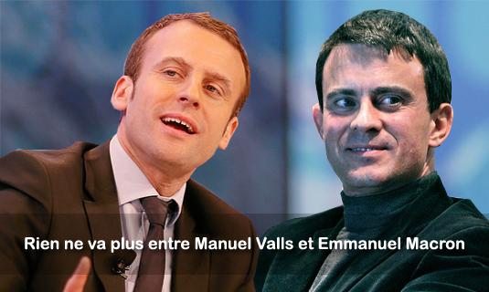 Rien ne va plus entre Manuel Valls et Emmanuel Macron