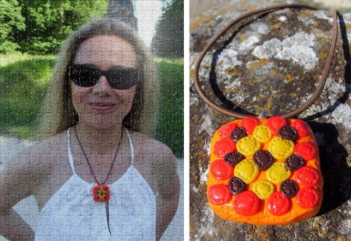 Collier aux couleurs seventies