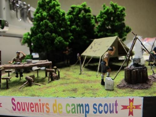 Maquettes des copains : le camp scout