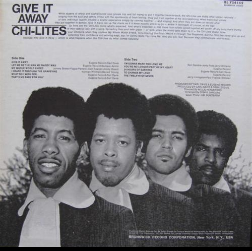 "The Chi-Lites : Album "" Give It Away "" Brunswick Records BL 754152 [ US ]"