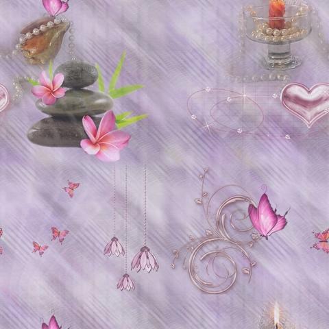 Texture fleurs papillons