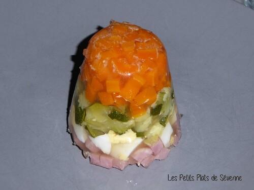 Aspics aux légumes et jambon blanc
