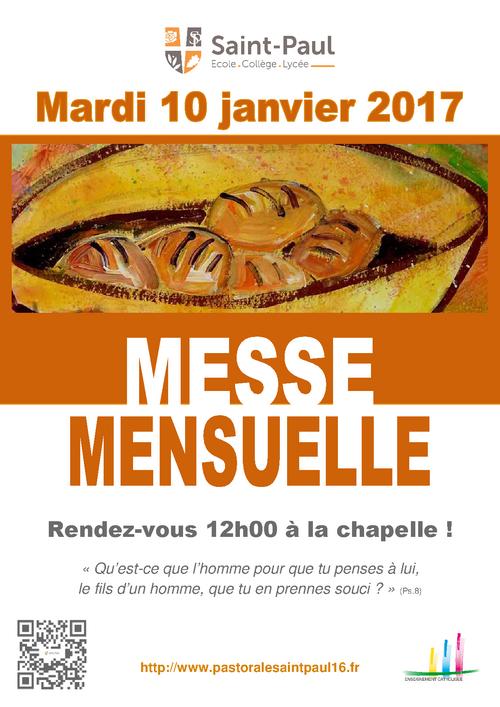 Messe Mensuelle Janvier 2017